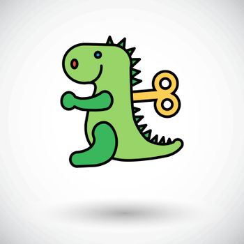 Dinosaurus toy icon. Flat vector related icon for web and mobile applications. It can be used as - logo, pictogram, icon, infographic element. Vector Illustration.