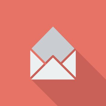 Envelope icon. Flat vector related icon with long shadow for web and mobile applications. It can be used as - logo, pictogram, icon, infographic element. Vector Illustration.