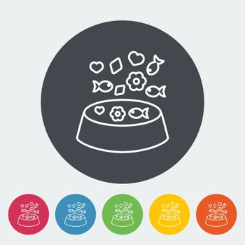 Animal bowl icon. Thin line flat vector related icon for web and mobile applications. It can be used as - logo, pictogram, icon, infographic element. Vector Illustration.