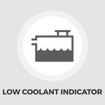 Low coolant indicator flat icon
