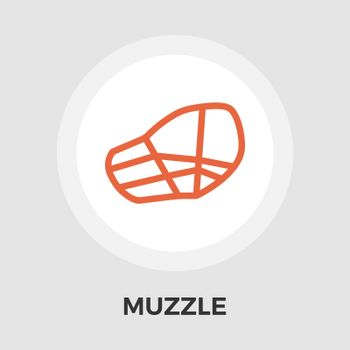 Muzzle icon vector. Flat icon isolated on the white background. Editable EPS file. Vector illustration.