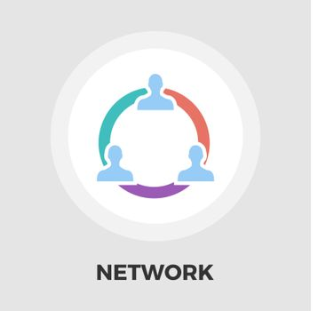 Network icon vector. Flat icon isolated on the white background. Editable EPS file. Vector illustration.