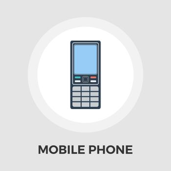 Phone icon vector. Flat icon isolated on the white background. Editable EPS file. Vector illustration.