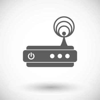 Router. Single flat icon on white background. Vector illustration.