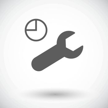 Service. Single flat icon on white background. Vector illustration.