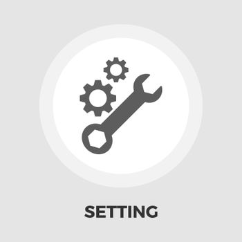 Setting icon vector. Flat icon isolated on the white background. Editable EPS file. Vector illustration.