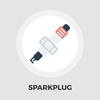 Sparkplug icon vector. Flat icon isolated on the white background. Editable EPS file. Vector illustration.