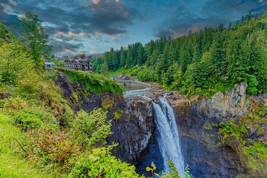 View of Snoqualmie Falls, near Seattle in the Pacific Northwest