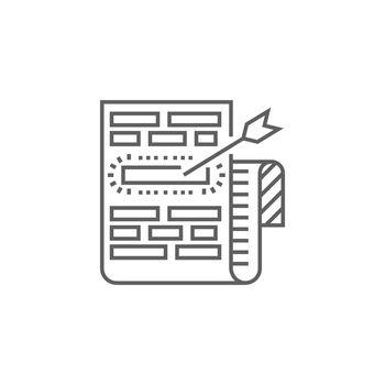 Target Keywords Line Icon