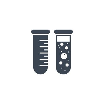 Test Tube related vector glyph icon. Isolated on white background. Vector illustration.