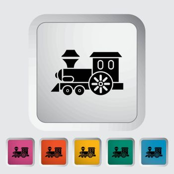 Train toy icon. Flat vector related icon for web and mobile applications. It can be used as - logo, pictogram, icon, infographic element. Vector Illustration.