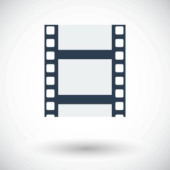 Videotape. Single flat icon on white background. Vector illustration.