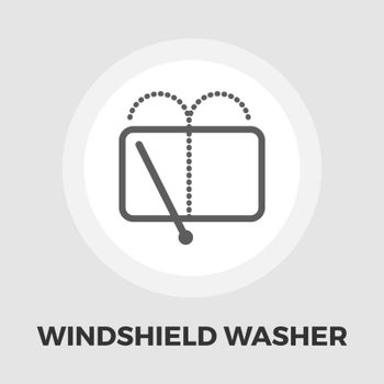 Car wiper icon vector. Flat icon isolated on the white background. Editable EPS file. Vector illustration.