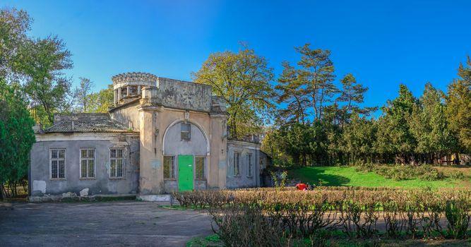 Odessa, Ukraine 10.30.2019. Abandoned Dukovsky park in Odessa, Ukraine, on a sunny autumn day