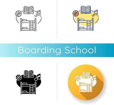 Boarding school icon
