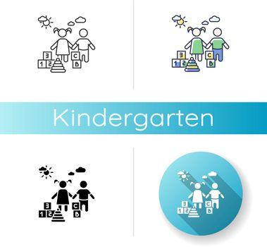 Kindergarten icons