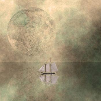 Sail under Moon