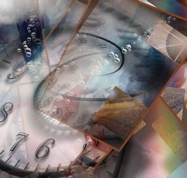 Complex Surreal Abstract Art. Time spiral