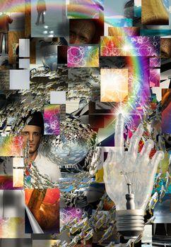 Complex Surreal Abstract Art. 3D rendering