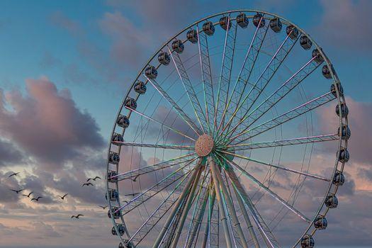 The Seattle Great Wheel is a Ferris wheel at Pier 57 in Seattle, Washington. It was the tallest Ferris wheel on the west coast when it opened on June 29, 2012.