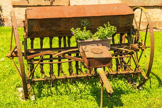 old agricultural machine