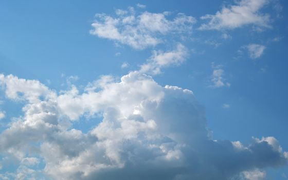 Beautiful summer sky with clouds, air nature