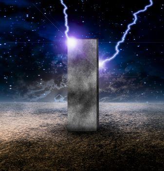 Strange Monolith on Lifeless Planet
