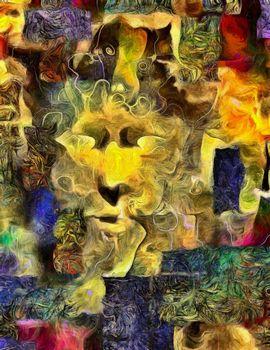 Human Face Abstract