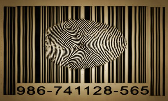 Fingerprint on barcode