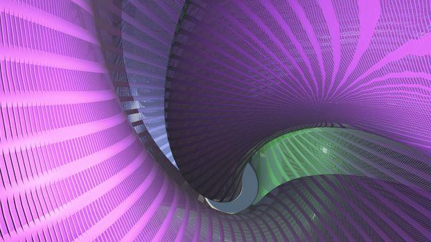 Strange swirling structure