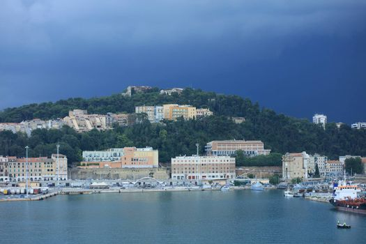 Ancona , Italy, Tuesday 5 July 2020 view of the city port from ship covid-19 season holidays high quality prints