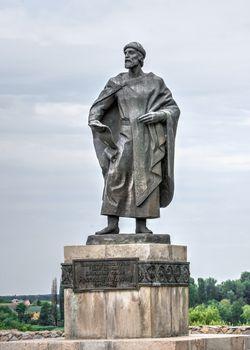Bila Tserkva, Ukraine 06.20.2020. Monument to Yaroslav the Wise in the city of Bila Tserkva, Ukraine, on a cloudy summer day