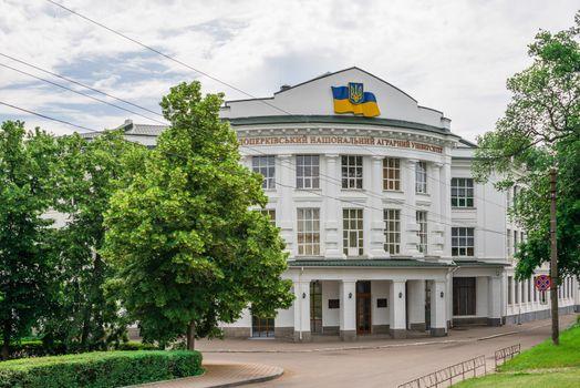 Bila Tserkva, Ukraine 06.20.2020. National Agrarian University in the city of Bila Tserkva, Ukraine, on a cloudy summer day