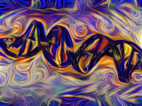 DNA Strand Artwork
