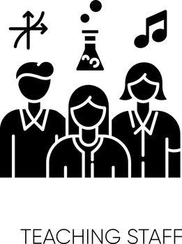 Teaching staff black glyph icon