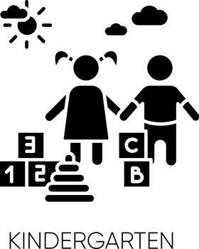 Kindergarten black glyph icon