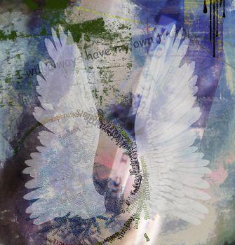 Spiritual abstract composition