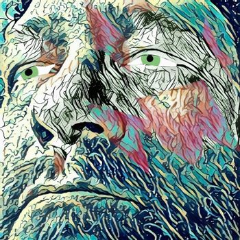 Wise man's face