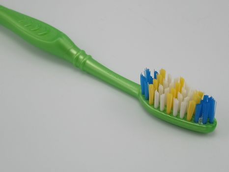 QUEZON CITY, PH - JULY 28 - Colgate green toothbrush on July 28, 2020 in Quezon City, Philippines.
