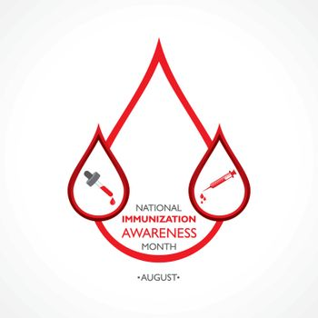 Vector Illustration National Immunization Awareness Month observed in August