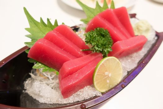 Akami (tuna) sashimi