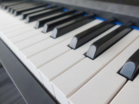 Piano key close up
