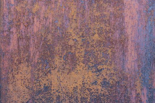 Rust on old metal wall