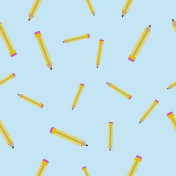 Seamless vector texture with Pencils. Abstract pattern with Pencils. Drawing tools background