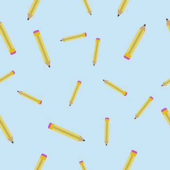 Seamless texture with Pencils. Abstract pattern with Pencils. Drawing tools background