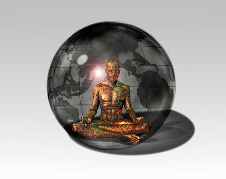 Cyborg meditates