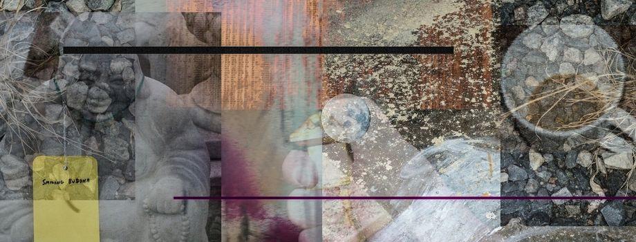 Buddha Tea Abstract. Modern art