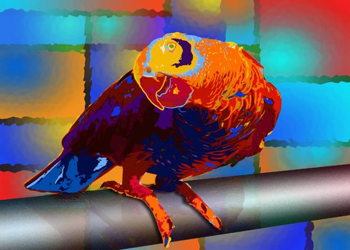 Tropic parrot bird