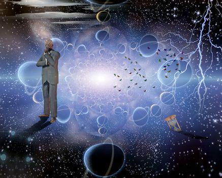 Thinker in space
