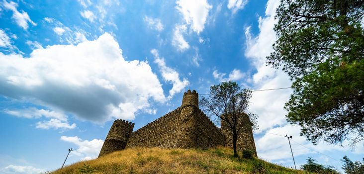 Famous Chailuri castle on the Kakhetian highway from Tbilisi to Telavi